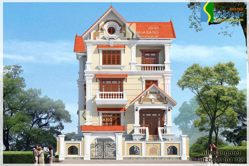 Biệt thự Tân cổ điển đẹp 4 tầng 11,2m x 11,3m BT14130
