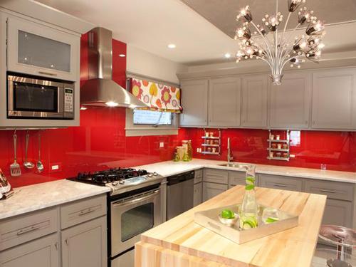 Bếp đẹp với những gam màu nổi bật