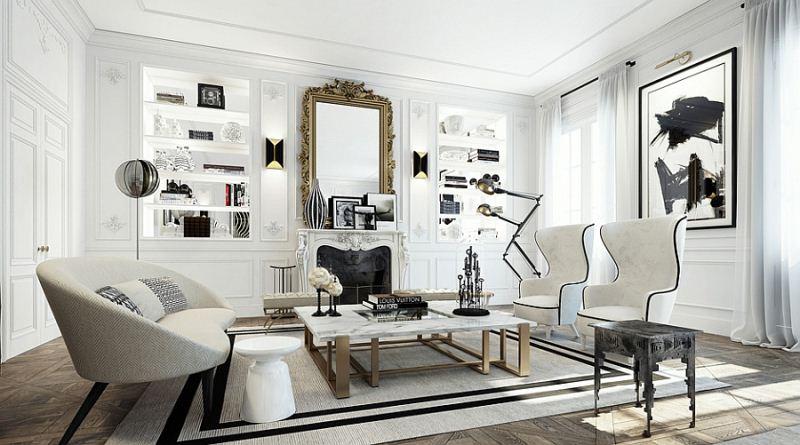 Tạo phong cách cho không gian nội thất qua hai màu đen – trắng