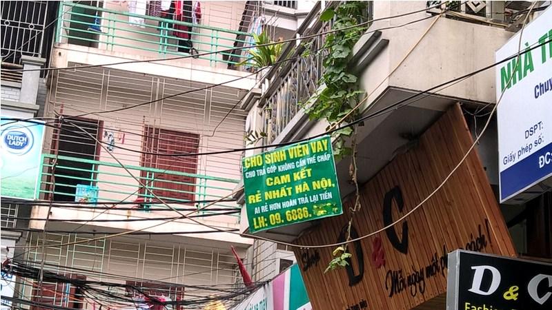 """Hà Nội:  Tín dụng đen xuống phố """"săn"""" sinh viên, người nghèo"""