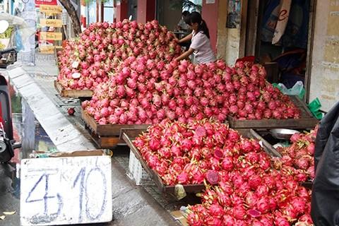 Tại TPHCM, Thanh Long ruột đỏ 10.000/4kg