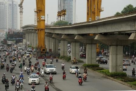 Tiến độ Dự án đường sắt Cát Linh - Hà Đông đang chậm như rùa bò (ảnh: Hữu Nghị)