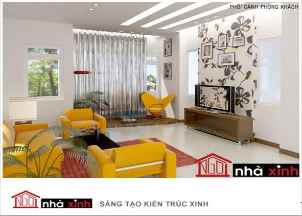 Phòng khách đẹp với những gam màu nổi bật